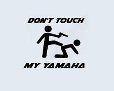 Don't Touch my YAMAHA Bike Aufkleber Sticker Folie Pistole Chopper Motorrad