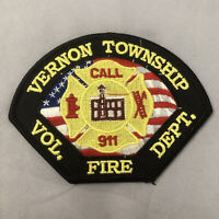 Vernon Township Volunteer Fire Dept Patch - 4 3/8 inches x 3 1/4 inches