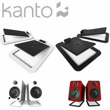 KANTO S4 Premium Desktop Speaker Stands Gloss Black White Desk Top PAIR Tilt YU4