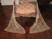 "Antique French Lace Veil/Shawl - 1800's Handmade, 106"" by 25"""