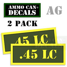 .45 LC Ammo Can Box Decal Sticker Set bullet ARMY Gun safety Hunting 2 pack AG