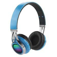 Wireless LED Foldable Bluetooth Headset Bass Stereo Headphone 3.5mm Earphone FM