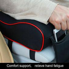 Car Armrest Pad Memory PU Auto Center Console Arm Rest Seat Box Pad w/ Pocket
