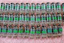 Vintage Sylvania 12AU7A PLATINUM GRADE Tubes Matched Pair Test > 100% NOS ECC82