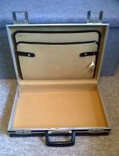 Vintage Black Hard Briefcase Attache Case Made in GDR Locking With Keys