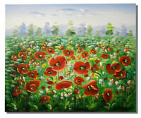 Poppy Field Canvas Oil Painting