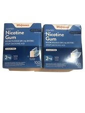 WALGREENS Ice Mint Flavor 2mg Nicotine Gum 100 Coated Pieces Exp 01/22
