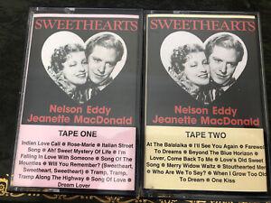 2 X Nelson Eddy & Jeanette MacDonald - Sweethearts. Music Cassette. Tape 1 & 2