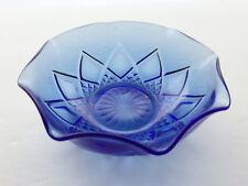 Hazel Atlas Depression Glass Cobalt DIAMOND ARCHES FANCY Dessert/Berry Bowl D19