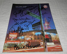 1999 Detroit Tigers Final Day Program SIGNED Ernie Harwell Al Kaline Lolich + 10