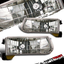 1995-2001 Ford Explorer/1997 Mercury Mountaineer Chrome Headlights Lamps Pair