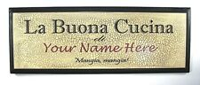 """New! Personalized """"Italian Kitchen"""" Sign"""