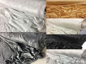 PLAIN THICK CRUSHED VELVET FABRIC MATERIAL FOR CURTAIN CRAFT UPHOLSTERY CLOTHING