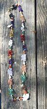 multicolor agate, necklace
