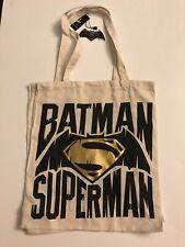 Primark Dc Comics Batman Vs Superman Baumwolle Tragetasche Wieder Shopper
