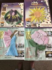 Precut Stained Glass Art Kits -Purple Iris, Sunburst,Pink Rose,Garden Fairy