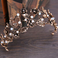 Bridal Crown Wedding Prom Tiara Jewelry Bride Leaves Rhinestone Hair Accessories