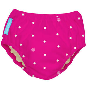 Charlie Banana Reusable Hot Pink Polka Dot Swim Diaper (X-Large, XL)