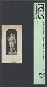 Sweden Vignette Proof Statue of Thor by Fogelberg Used on date 1888 PS419-S421