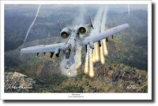 Warthog by Mark Karvon  - A-10 Thunderbolt II - Aviation Art Print - Large