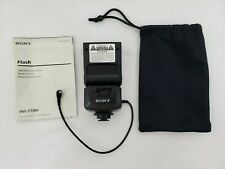 Sony Hvl-F1000 Electronic Shoe Mounted Flash Unit With Cloth Bag and Manual