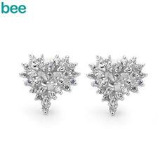 Classic Natural Simulated Diamond 925 Sterling Silver Studs Earrings 35466/*