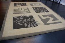 nr 113B Modern Teppich Handtufted Beige Grau aus Wolle ca 200 x 150 cm Neu