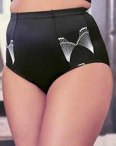 Figleaves Curve Brief Waist Nipper 14 Art Deco Black High Waist Firm Knickers