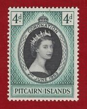 1953 Pitcairn Islands QE II Coronation MLH SG 17