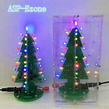DIY Kit RGB Flash LED Circuit Colorful Christmas Trees LED Kit for gift