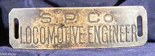 Southern Pacific LOCOMOTIVE ENGINEER Cap Badge