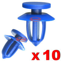 VAUXHALL DOOR TRIM PANEL CARD CLIPS ASTRA J INSIGNIA MK1 MERIVA BLUE PLASTIC X10