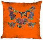 (09843-1 orange) Coussin décoratif 40x40 cm coussin+remplissage+pression