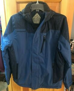 NWT MENS $120 ZeroXposur Midweight Winter Hooded Jacket Coat-Blue-Small
