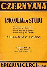 Alessandro Longo RACCOLTA DI STUDI OPERE DI CARLO CZERNY FASCICOLO II