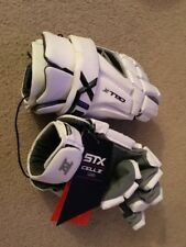 STX CELL IV WHITE LACROSSE GLOVES SIZE LARGE NWT