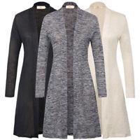 Women's Plain Trench Coat Long Outwear Jackets Overcoat Spring Cardigan Parka