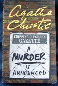 A MURDER IS ANNOUNCED...AGATHA CHRISTIE p/b   (2002)