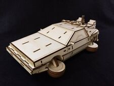 "Laser Cut Wooden DeLorean ""Back To The Future"" Car ~ Model/Puzzle Kit"