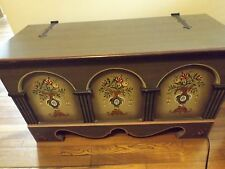 Voglauer Bauernmobel Anno 1800 Germany Handpainted Blanket or Hope Chest EUC