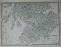 SCOTLAND I, SOUTH TO PERTHSHIRE, original antique map, SDUK, 1844