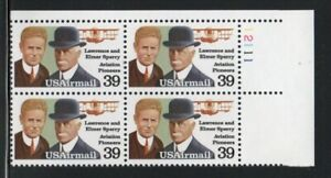 ALLY'S STAMPS US Plate Block Scott #C114 39c Sperry Brothers [4] MNH F/VF [STK]