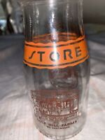 Vintage Half Pint Milk Bottle Gulf Hill Farms South Dartmouth Massachusetts 1955