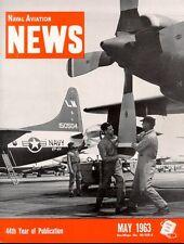 NAVAL AVIATION NEWS MAY 1963 USMC VMA A-4 / VP-44 P-3A PAX RIVER / USNR FJ VF /