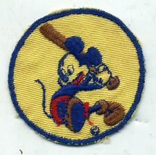 Original WWII Mickey Mouse Playing Baseball Disney Patch In Tan