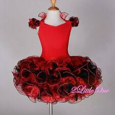 Red Cupcake Halter National Pageant Dress DIY Shell Toddle Size 4T-5 #002