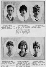 1916 Elgin IL High School Yearbook~WWI~Football~Photos~History~Candids~Seniors