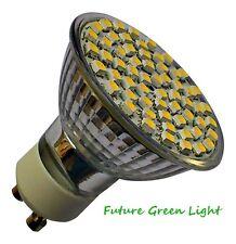 GU10 60 SMD LED 240V 3.5W 300LM WARM WHITE BULB ~50W