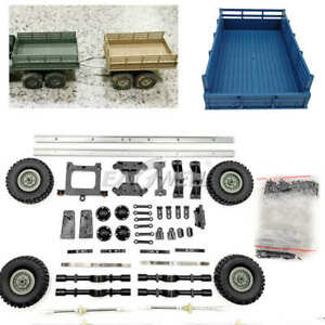 Upgrade Trailer Vehicle Model For WPL B14 B16 B24 Military Truck 1/16 RC Car new