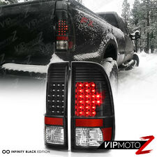 "1999-2007 Ford F250 F350 F450 SuperDuty ""MURDER OUT"" Black LED Tail Lights Lamps"